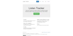 Listen Tracker