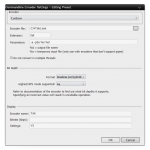 SnapCrab_Commandline Encoder Settings - Editing Preset_2013-8-19_17-33-19_No-00